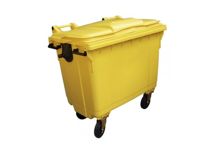 Care Homes Clinical Waste Collection 1000 Litre Clinical Waste Bin with Lockable Lid