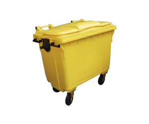 Bulk Clinical Waste Collection 1000 Litre Clinical Waste Bin with Lockable Lid