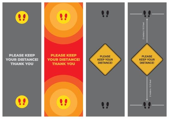 Bespoke Keep Your Distance Floor Mats